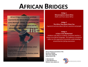 African Bridges is a series of workshops organized by the African