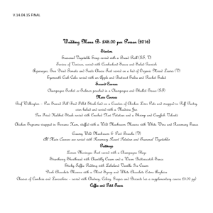 2016 Wedding Menu B