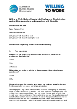 Submission No 114 - Australian Human Rights Commission