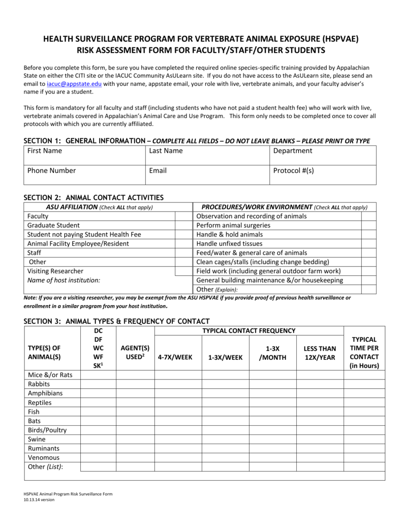 Ohs Form For Faculty Staff Docx 30 77 Kb