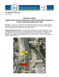 Eighth Street On-Ramp Relocation and Fleming