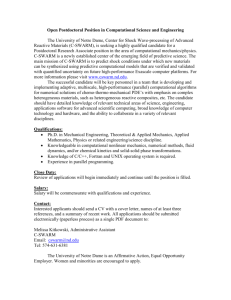 Postdoc Position Description