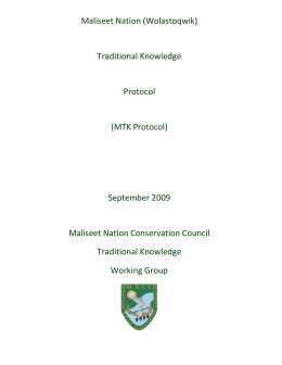 MTK-Protocol1 - Maliseet Nation Conservation Council