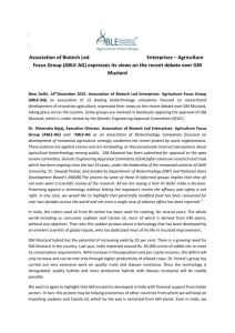 (ABLE-AG) expresses its views on the recent debate over GM Mustard