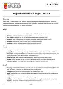 Programme of Study – Key Stage 3 – ENGLISH