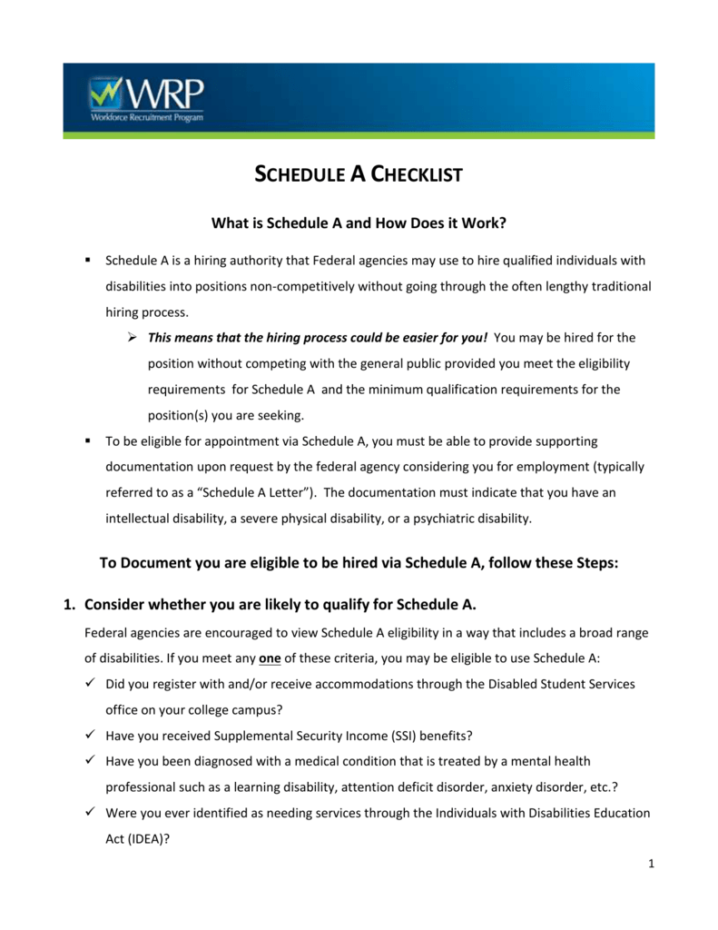 schedule a checklist for students