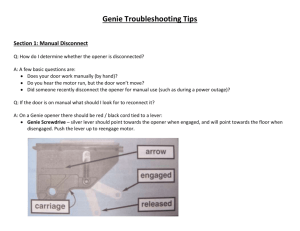 Genie Garage Door Opener Troubleshooting Tips