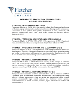 Integrated Production Technologies Course Descriptions