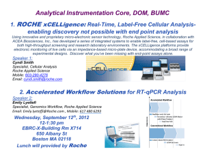 Analytical Instrumentation Core, DOM, BUMC 1. ROCHE
