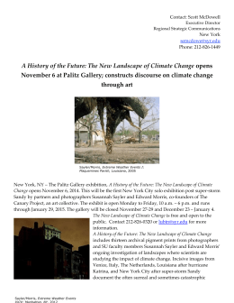 The New Landscape of Climate Change 11-4