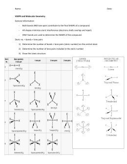 Chem 20 – VSEPR and Polarity