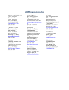 Dissertation committee meeting agenda