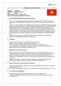 Plantwise Country Plans 2014 Country: Vietnam CABI Region