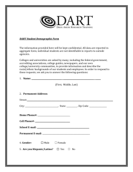 DART Student Demographic Form The information provided here