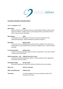 Canterbury Dietitians Standard Rates [Word Doc]