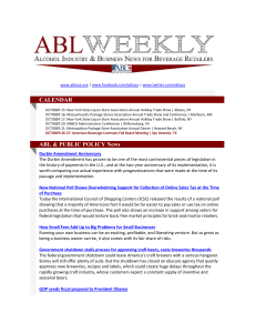 ABL & PUBLIC POLICY News - Empire State Restaurant and Tavern