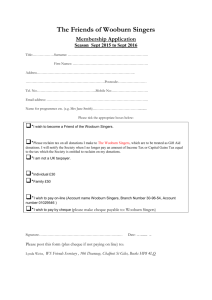 Friends application form