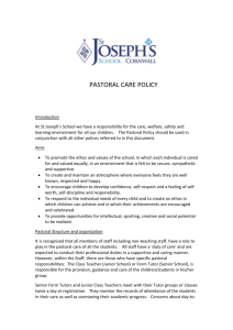 Pastoral Care Policy 2015