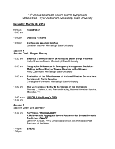 Agenda - East MS Chapter of NWA/AMS