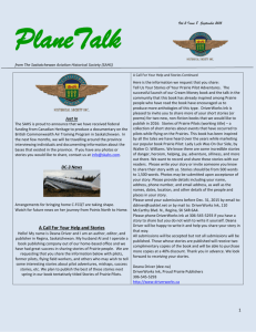 September 2015 - Saskatchewan Aviation Historical Society