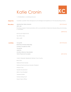 Resume - Kellar Radio Talent Institute
