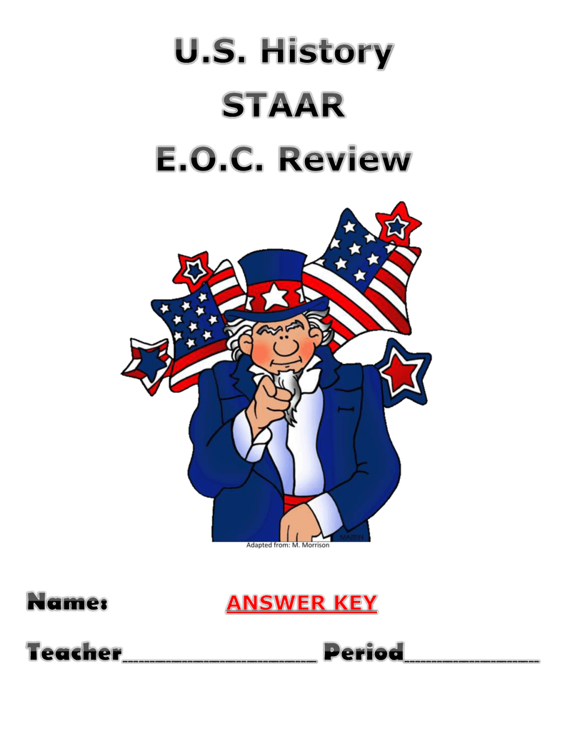 Workbooks florida us history eoc assessment test prep workbook : STAAR REVIEW -Answer Key