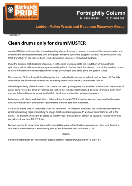drumMUSTER - Loddon Mallee Waste and Resource Recovery Group