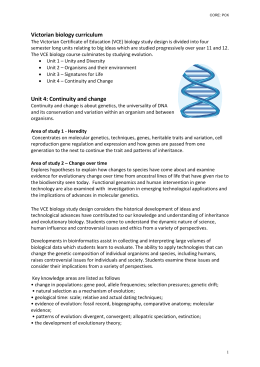 Biology curriculum Evolution draft