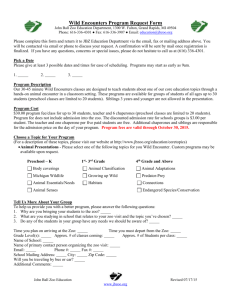 Wild Encounters Program Request Form