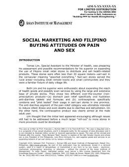 social marketing and filipino buying attitudes on pain