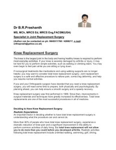 Information on Knee Replacement Surgery