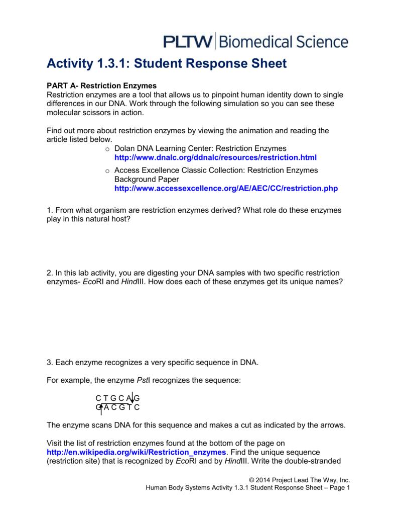 activity 1.3 1 student response sheet answer key hbs