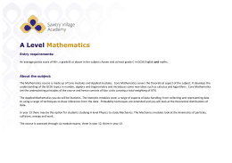 GCE Maths (stats)