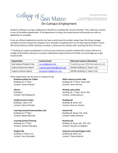 On-Campus Employment - College of San Mateo
