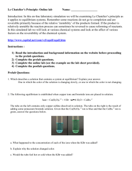 le chateliers principle lab report