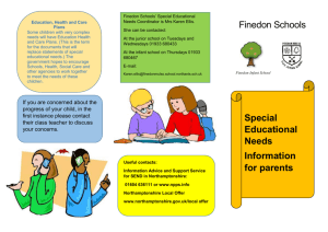 Special Educational Needs Information for parents