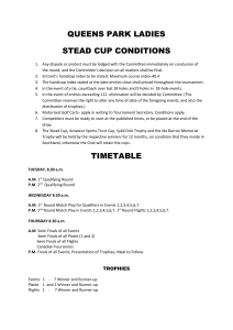 QP Stead Cup Conditions and timetable