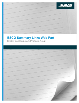 Summary Links Web Parts