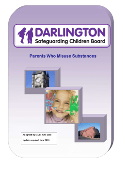 Parents who misuse substances