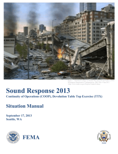 Sound Response Manual 2013 - Seattle Federal Executive Board