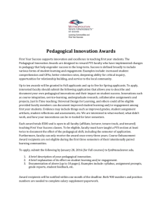 Fall 2015 Pedagogical Innovation Awards