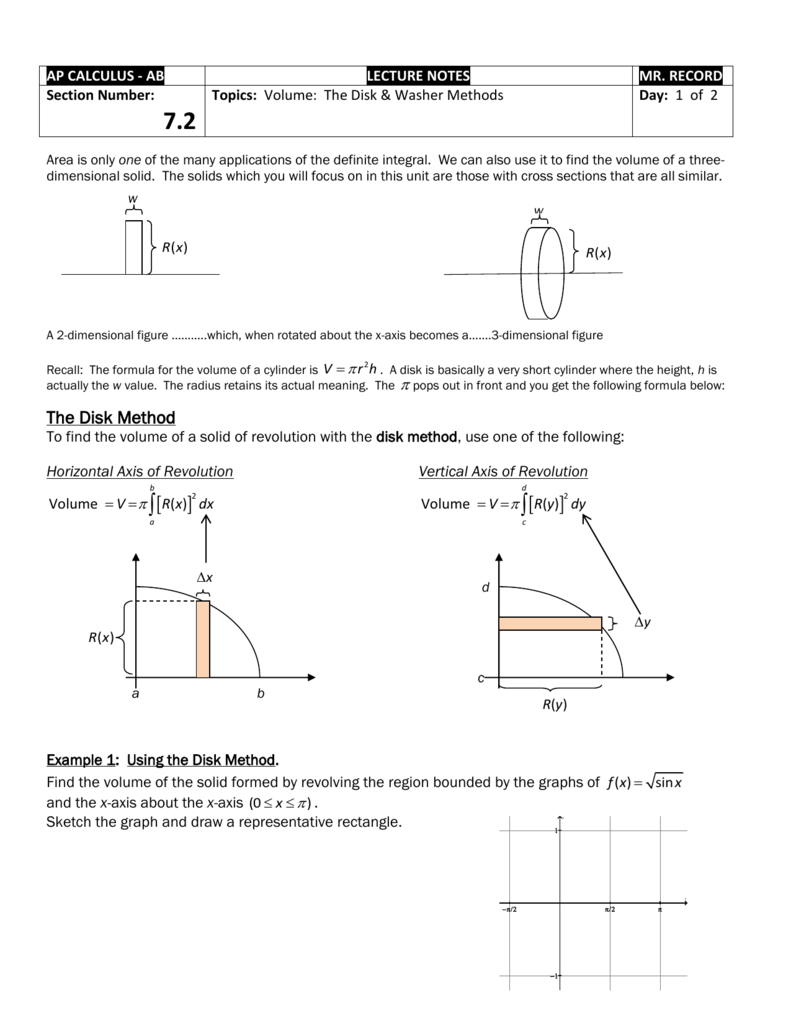 Enter Image Source Here Volume Of Solid Test 9 The Washer Method: To Find  Semicircles