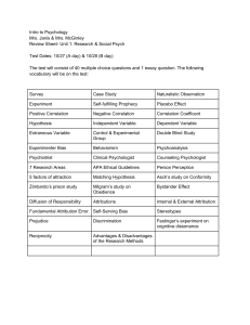 ReviewSheet- ResearchSocialPsychology