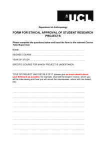 Ethics Form