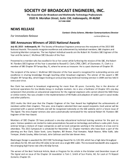 SBE Announces Winners of 2015 National Awards