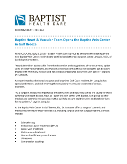 Baptist Heart & Vascular Team Opens the Baptist Vein Center in Gulf