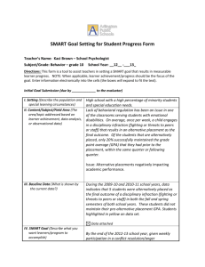 School Psychologist SMART Goal