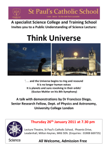 Public Understanding of Science Lectures: