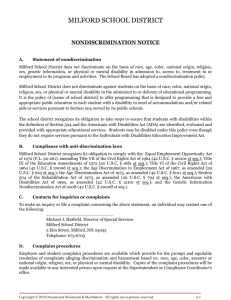 nondiscrimination notice - Office of Special Education