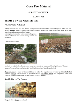 Water Pollution In India What Is Water Pollution